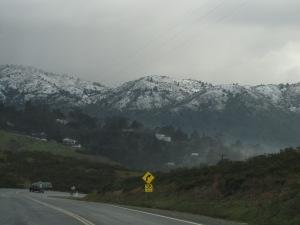 Neve nos arredores de San Francisco