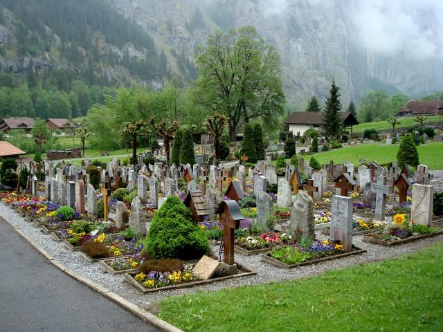 Lauterbrunnen - cemitério