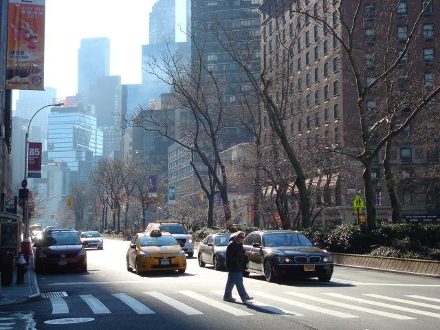Uma das ruas do Upper West Side