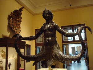 Siren - escultura de bronze italiana