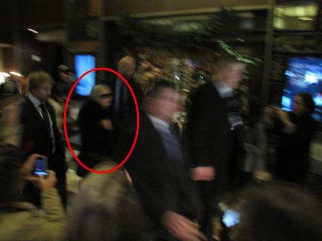 Lady Gaga rumo ao seu pocket show em Times Square