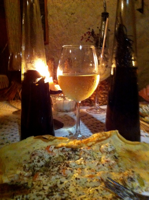 Crepe aberto e azeites especiais para harmonizar