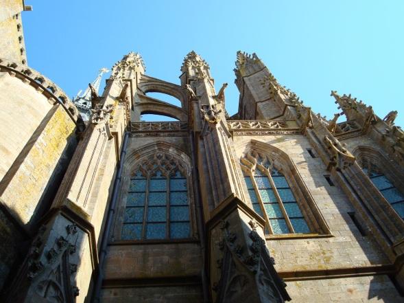 Detalhes arquitetônicos da igreja da abadia