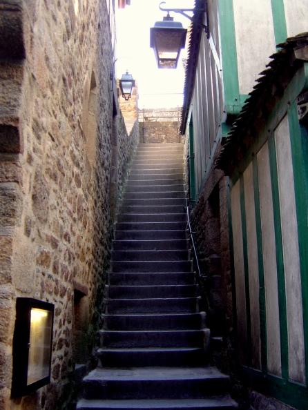 Uma das inúmeras escadarias