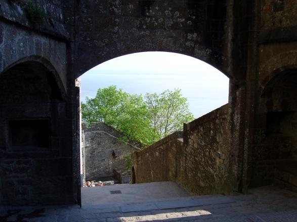 Vista a partir do interior da abadia
