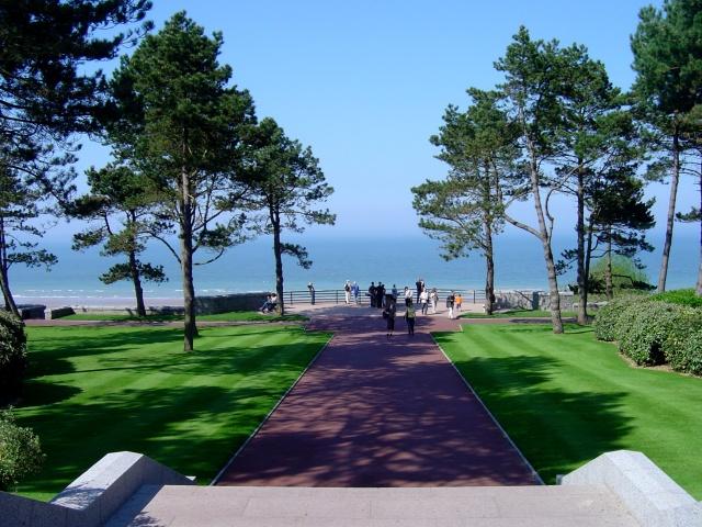 Vista para Omaha Beach e o Canal da Mancha