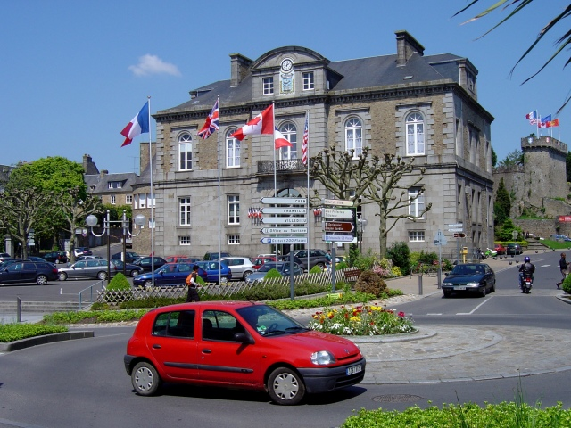 Vista do centro de Avranches