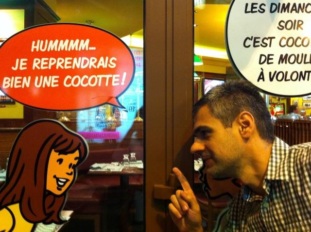 Paris - saída de restaurante