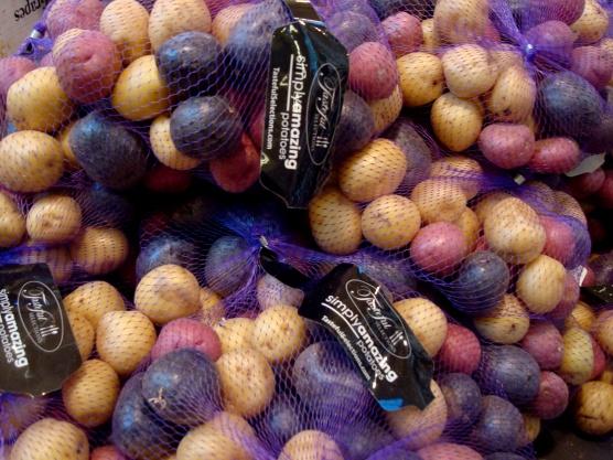 Mix de batatas coloridas