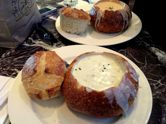 Boudin Bakery - clam chowder