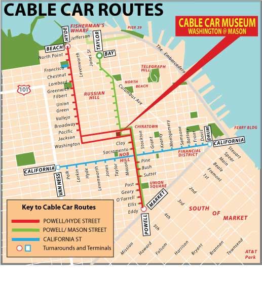 mapa cable car san francisco